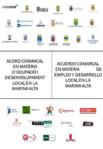 Acuerdo comarcal en materia de empleo y desarrollo local de la MarinaAlta