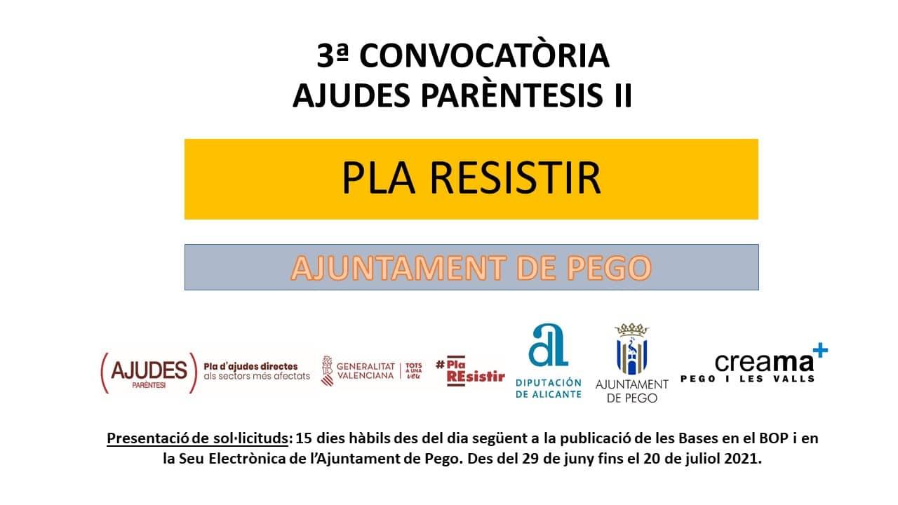 Creama informa de la ampliación de las actividades (CNAE's) de las ayudas Paréntesis II Ayuntamiento de Pego