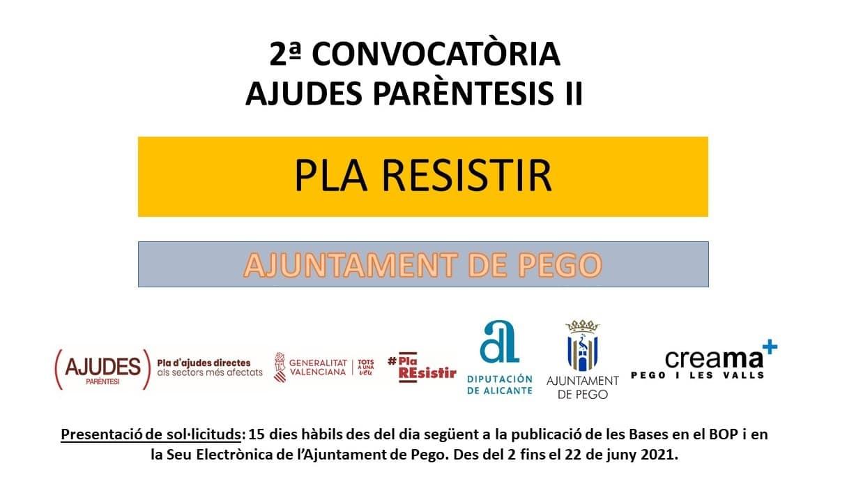 Creama informa de las ayudas Paréntesis II Ayuntamiento de Pego