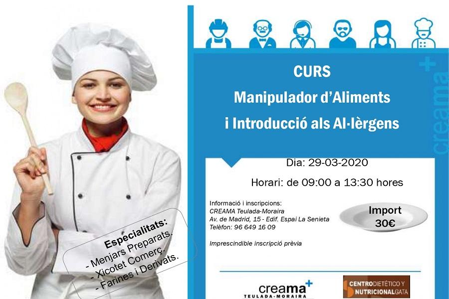 Curso para obtener el carnet para manipular Alimentos e introducción a los alérgenos.