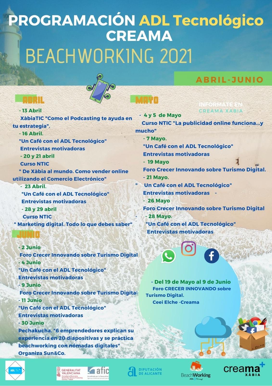 Nueva programación Beachworking – Adl Tecnológico Creama Xàbia