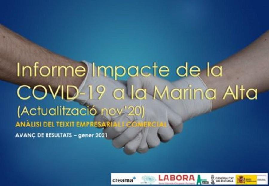 PACTE'MA a través de Creama publica el segundo informe sobre el impacto socioeconómico de la Covid-19 a la Marina Alta.