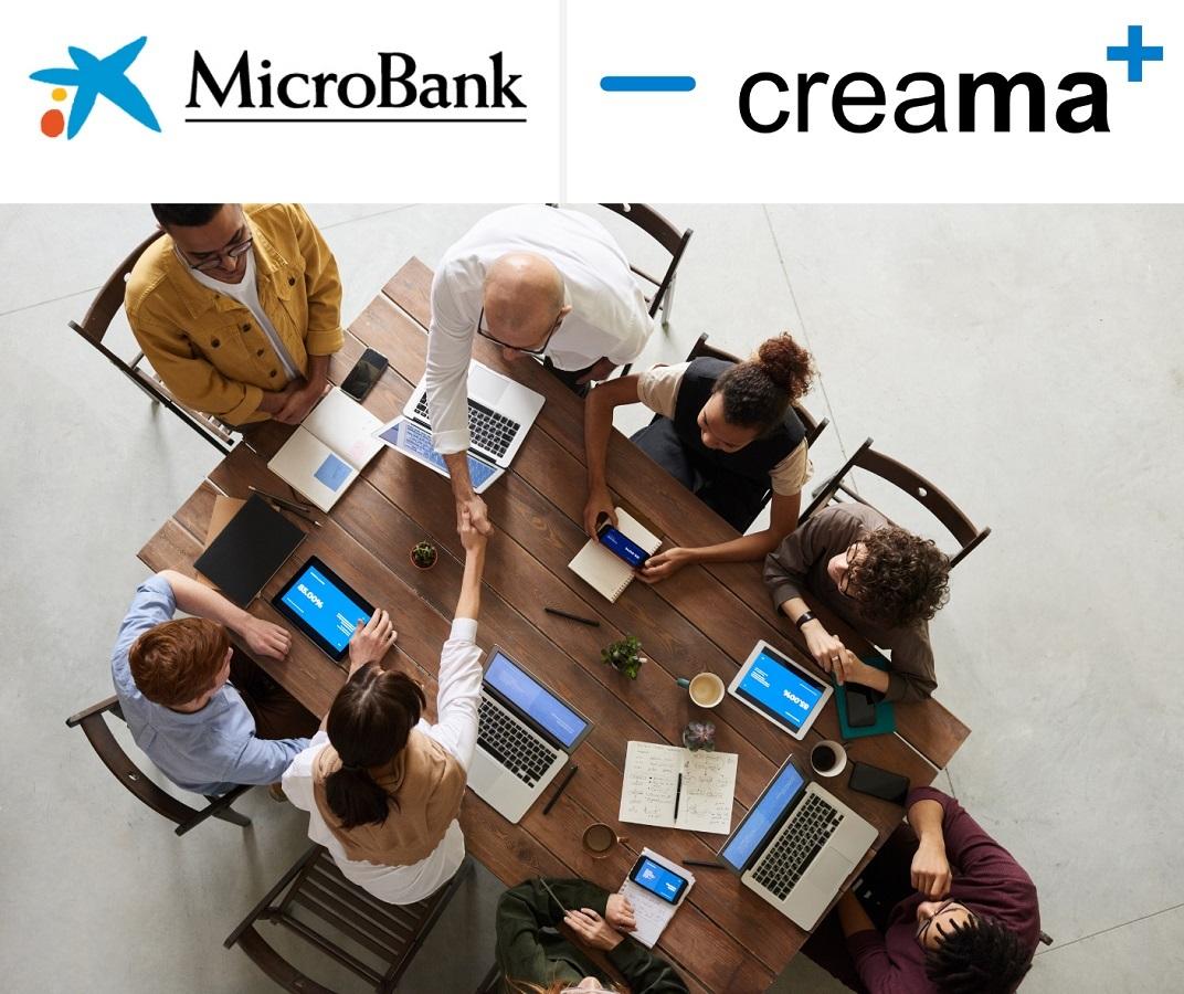CREAMA y MicroBank firman un convenio de colaboración para incentivar el autoempleo y la actividad emprendedora