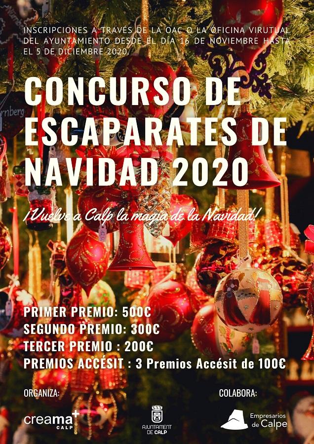 Concurso de escaparates de Navidad 2020
