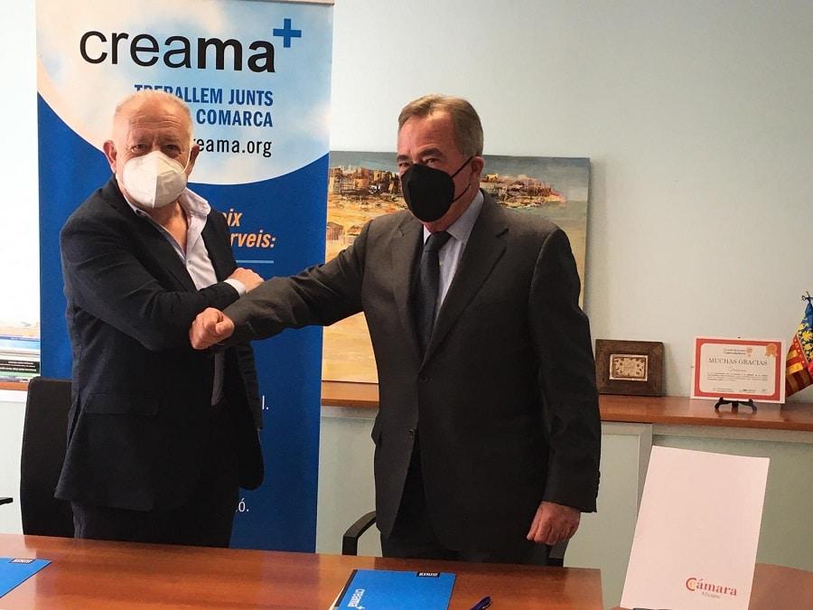 Creama y la Cámara firman un convenio de colaboración