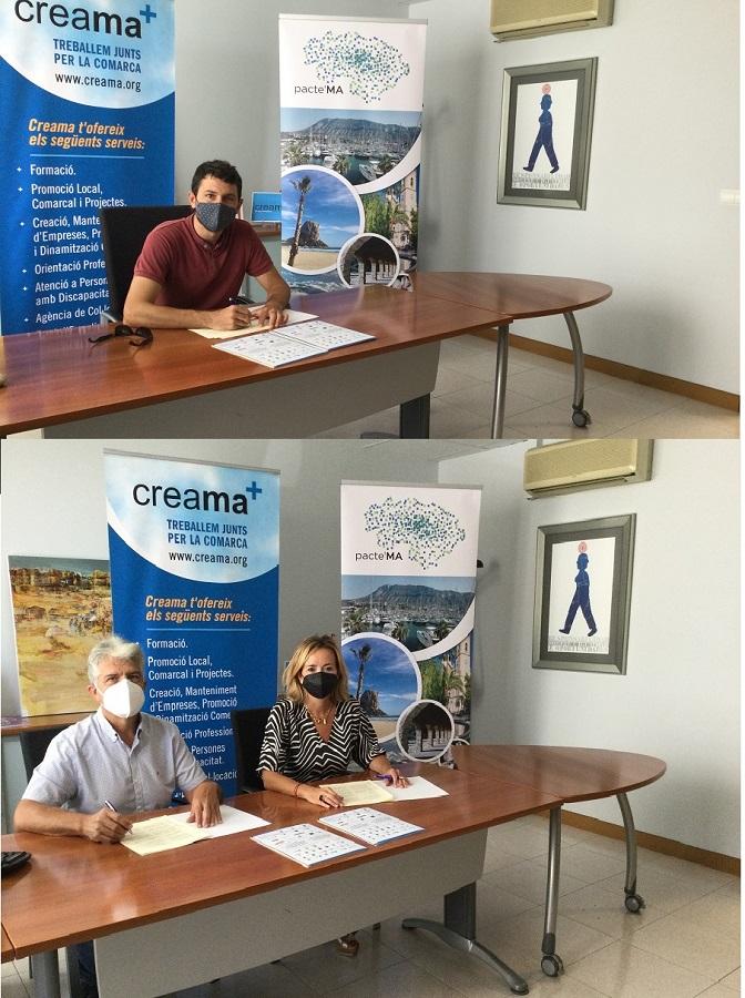 Els Poblets, Llíber y La Vall de Gallinera formalizan su adhesión a PACTE'MA con la firma del Acuerdo por el Empleo de la M