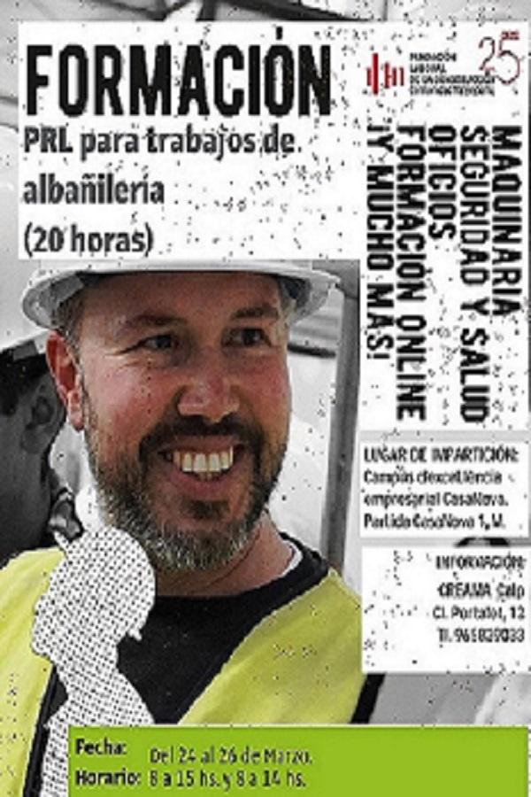 Prevención de Riesgos Laboral para trabajos de albañilería (20h)