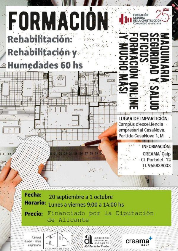 Formación Rehabilitación: Rehabilitación y Humedades 60 Hs