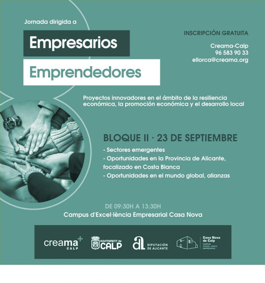 Formación Empresarial Calp. Sectores Emergentes. Oportunidades en la  Provincia de  Alicante. Alianzas.