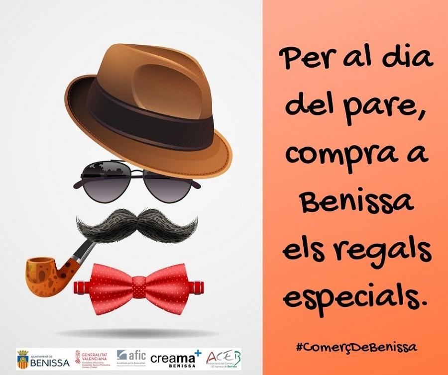 """Campaña promocional en Benissa con motivo del """"Día del padre""""."""
