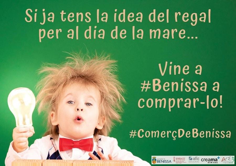"""Campaña promocional en Benissa con motivo del """"Día de la madre""""."""