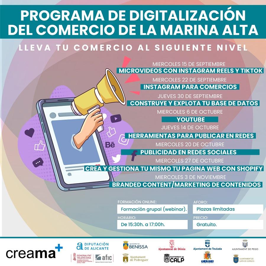 CREAMA PONE EN MARCHA EL CICLO DE COMERCIO: Programa de digitalización del comercio de la Marina Alta
