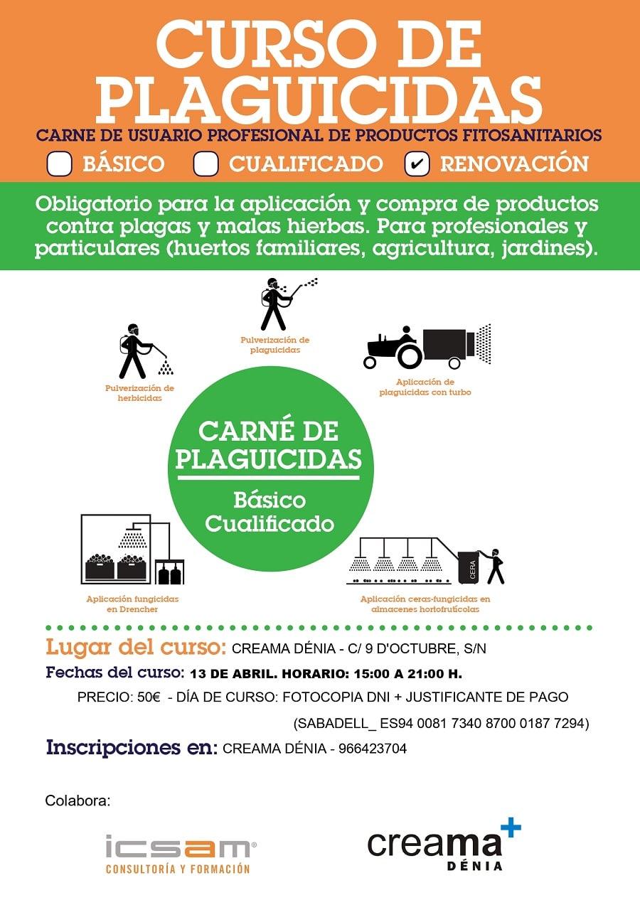 CURSO DE PLAGUICIDAS. RENOVACIÓN