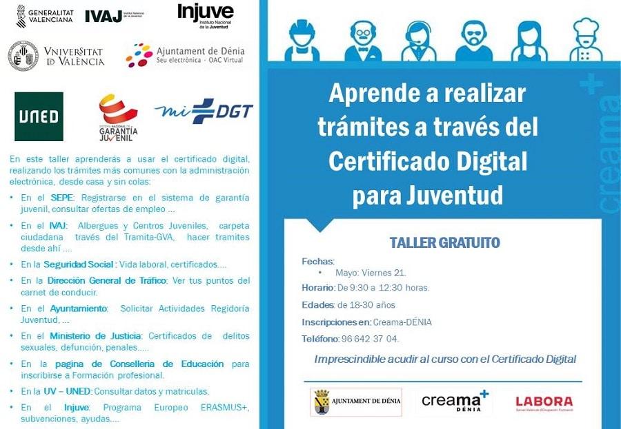Aprende a realizar trámites a traves del Certificado Digital para la Juventud