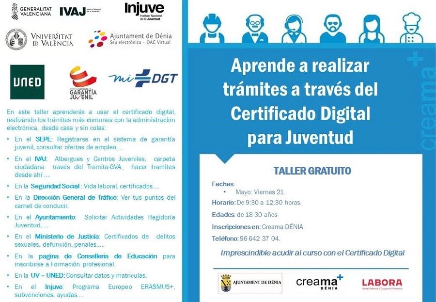 Certificado Digital para la Juventud