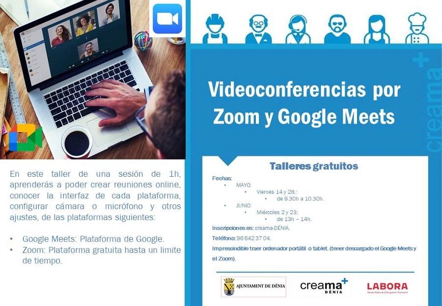 Videoconferencia por Zoom y Google Meets