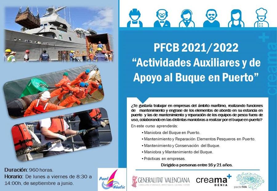 """PFCB 2021/2022 """"Actividades Auxiliares y de Apoyo al Buque en Puerto"""""""