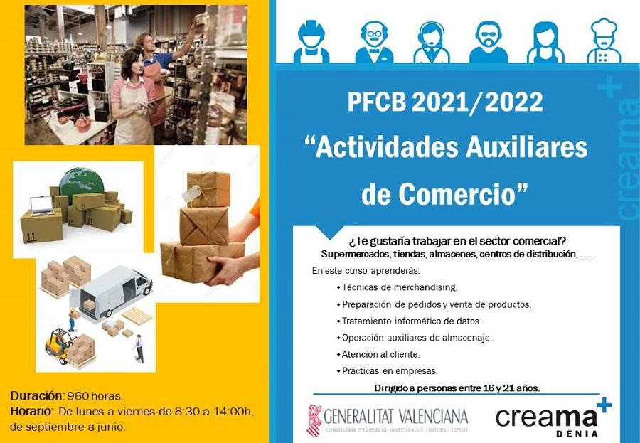 "PFCB 2021/2022 ""Actividades Auxiliares de Comercio"""
