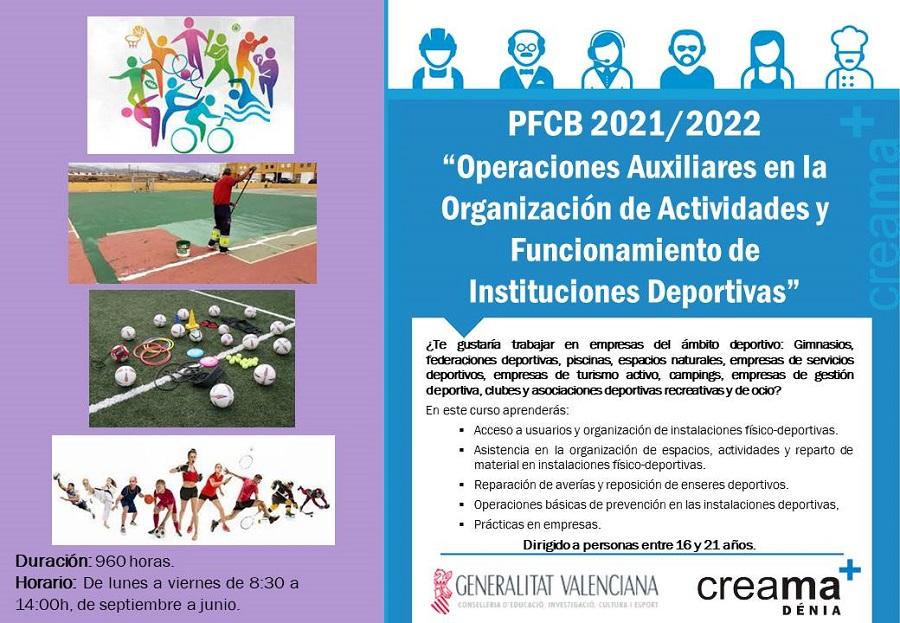 """PFCB 2021/2022 """"Operaciones Auxiliares en la Organización de Actividades y Funcionamiento de Instituciones Deportiva"""""""