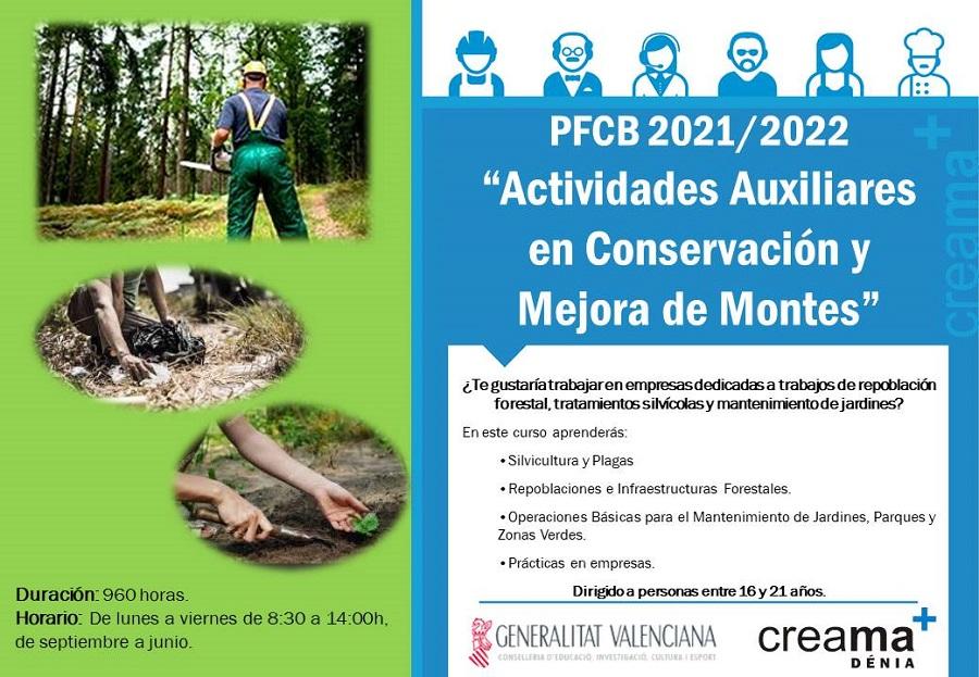 """PFCB 2021/2022 """"Actividades Auxiliares en Conservación y Mejora de Montes"""""""