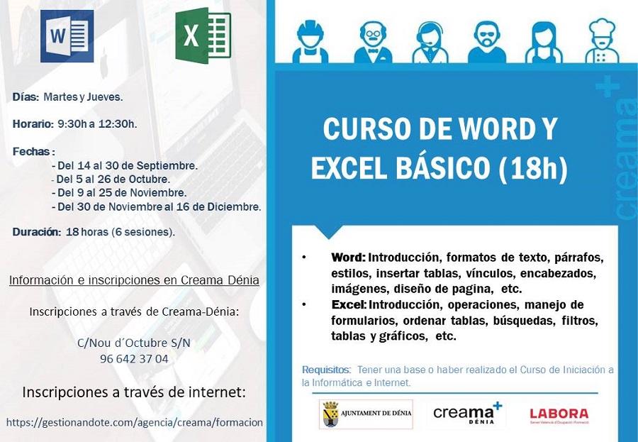 Curso básico Word y Excel