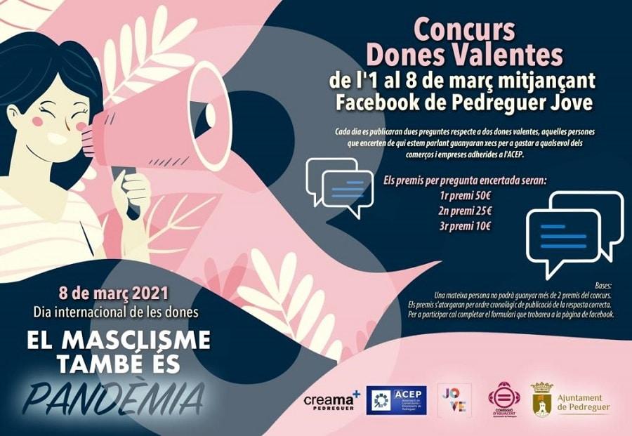 Concurso mujeres valientes con premios para consumir en Pedreguer