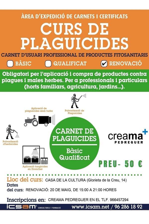 Curso para la renovación del carnet de usuario de productos fitosanitarios